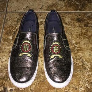 Tommy Hilfiger Glitter Slip On Shoes Size 10